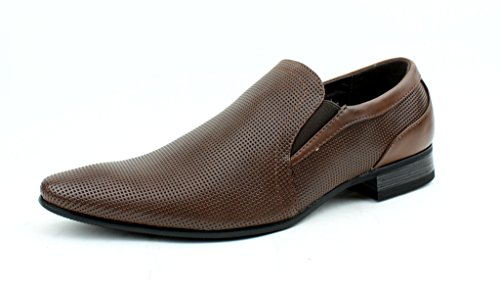 Hommes Neuve Style Italien Cuir Élégantes Formelles Office chaussures taille Royaume-Uni Marron