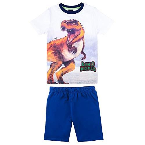 DINO WORLD Disney Jungen Schlafanzug, T-Shirt, Shorts, Kurze Hose, blau, Größe 116, 6 Jahre Dino-hose