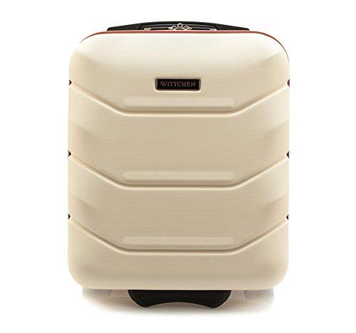 WITTCHEN Reisekoffer Trolley 17 Koffer Bordgepäck Handgepäck, 42x32x25 cm, Weiß, 25 Liter, Größe: klein, XS, Bordgepäck, Handgepäck, ABS, 56-3A-281-88