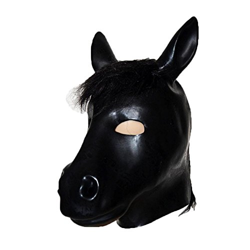 Damen Isolationsmaske Sklaven Fetish Maske Maskenspiel Karneval Party Ball Gesicht Augenmaske Bondage Leder Kopf Maske gepolstert SM Sex Spielzeug