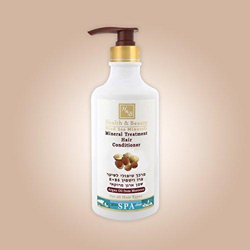 Mer Morte cosmétique - Health and Beauty Dead Sea Minerals - Après-shampoing traitant à l'huile d'argan - 780 ml