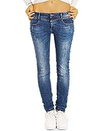 bestyled Damen Jeans, Super Skinny Stretch, breiter Bund, Damen Hüftjeans  j32g-2 df94a8c2fc