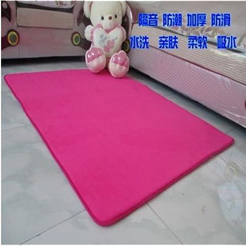 Vellón Coral moderno alfombras antideslizantes,red,160*230 cm.