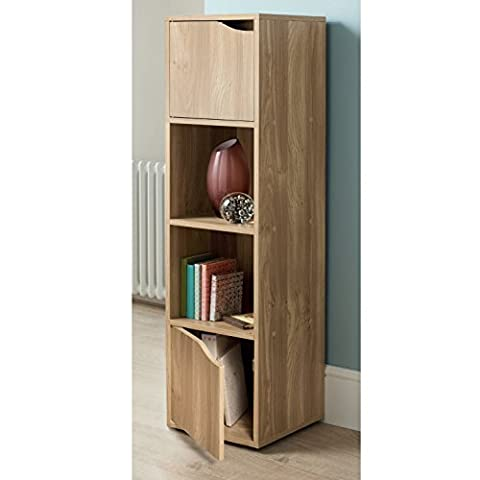 Turin 4 Cube Shelves Bookcase Shelves Storage unit oak wood dvd cd rack