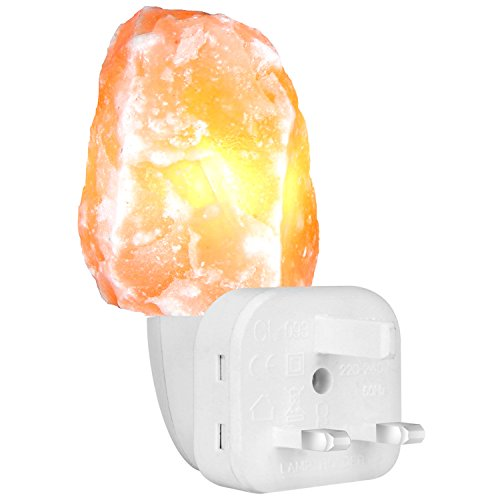 FARSAIL Himalayan Salt Lamp Wall light Natural Rock Hand Carved with Orange...