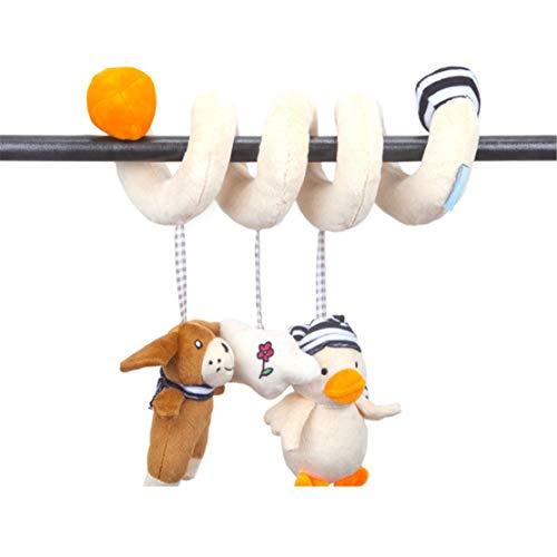 Happy Event Baby Rasseln | Cute Animal Plüsch Hängende Glocke | Puppe Weiches Bett Spielen Spielzeug | Babybettspielzeug & -anhänger