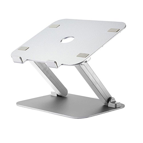 Universal-tisch-basen (Laptop Stands LDFN Universal Thermal Base Aluminiumlegierung Thermische Pad Laptop Tisch Lese Rack,Silver)