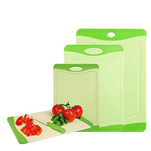 culinario 4er Set Schneidebretter mit Hygiene-Schutz, 4 Größen, Farbe: limette