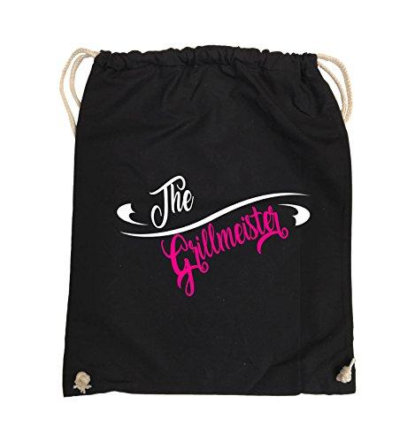 Comedy Bags - The Grillmeister - Turnbeutel - 37x46cm - Farbe: Schwarz / Weiss-Pink Schwarz / Weiss-Pink