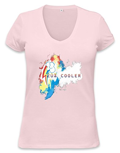 20% Cooler Rainbow Dash Womens V-neck T-shirt XX-Large (20 Cooler Rainbow Dash)