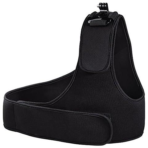Hama Schultergurt (für GoPro, größenverstellbarer 3-Punkt-Gurt mit Klettverschluss) schwarz