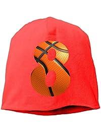 Jxrodekz Beanie Hat Baseball Cap Male/Female Number 8 Cotton Skull Cap 00557