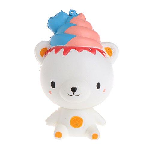 ZOOMY Kawaii Poo Bär duftend Squishy Langsam steigender Squeeze Strap Kinder Spielzeug Geschenk