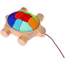 Holzspielzeug Schidkröte Nachziehtier mit Sound