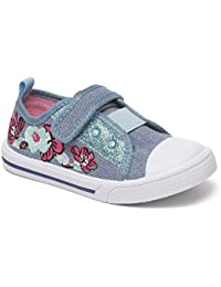 Girls Canvas Chatterbox Pump Infant Velcro Trainers Shoes Mary Jane Low Top
