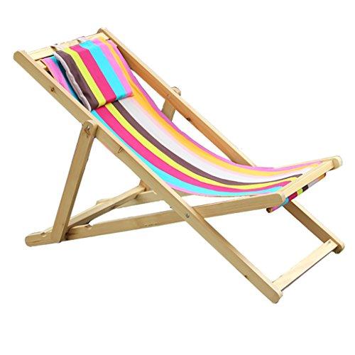 XIAOLVSHANGHANG HHCS Chaises de Plage Chaises de Salon Chaises en Bois Chaises de déjeuner Chaises de terrasse Chaises en Bois Chaises et tabourets (Couleur : A)