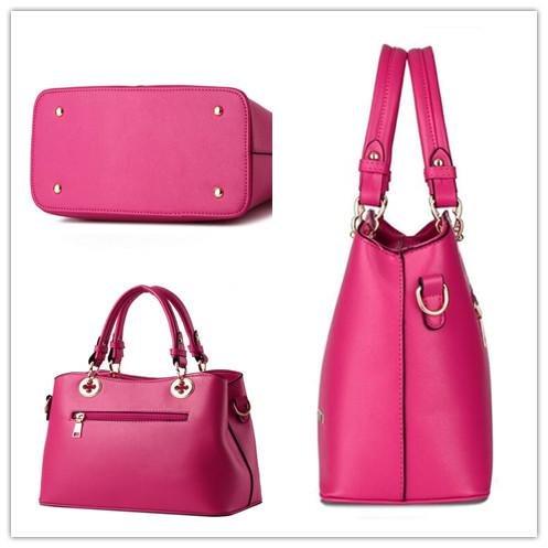 HQYSS Borse donna Dolce signora atmosferica moda PU pelle donne sezione verticale tracolla Messenger Handbag , days blue rose red