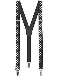 1 Tirantes Elásticos Ajustable Para Pantalones Y-diseño Clip hombre mujer niño negro punto spot