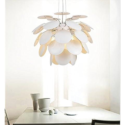 LFH.JY Sala da pranzo Camera da letto Soggiorno Cafe Apparecchio di illuminazione retrò Nordic American villaggio frutti creativi illumina Ciondolo,65cm