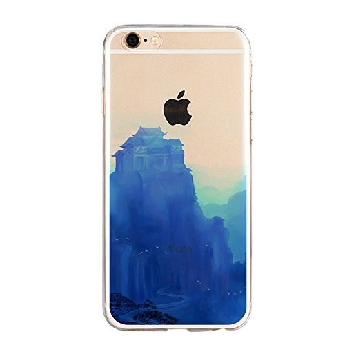 iPhone SE Hülle, iPhone 5S Hülle, iPhone 5 Schutzhülle, Vandot iPhone SE 5 5S Handyhülle Glänzend Malerei Durchsichtig Transparent Muster Pattern Diamant Bling Kristall Case Cover Thin TPU Silikon Wei Color 3