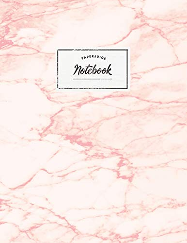 Notebook: Beautiful pink marble white label |  ★ School supplies ★ Personal diary ★ Office notes  |  8.5 x 11 - big  notebook | 150 pages | College ruled (Pink pink baby collection, Band 28) -