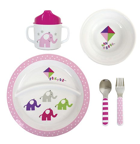 Kindergeschirr Set Frühstücksset von JaBaDaBaDo, 5-teilig Kunststoff