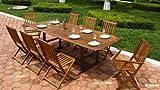 3DCASALINGHI Tavolo Legno Acacia Rettangolare ALLUNGABILE AC805007 180/240 X 100 Cosma