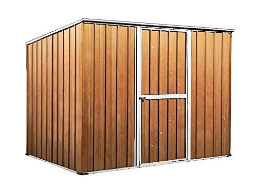 notek box in acciaio zincato casetta da giardino in lamiera 2.60 x 1.85 m x h1.92 m - 85 kg - 4,8 metri quadri - legno