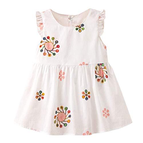 Baby Mädchen Kleid Blumen Stickerei Kleid KIMODO Urlaub Sommer Strandkleid Kleinkind Prinzessin Outfit Kleidung -