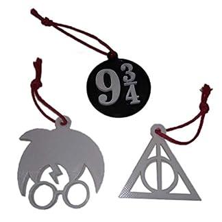 AKARURE Pack 3 Adornos de Navidad de Harry Potter