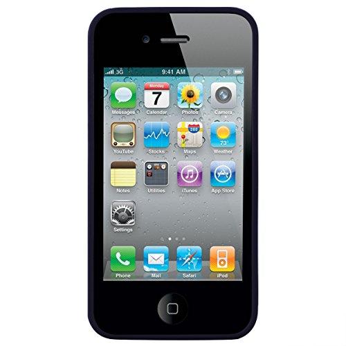 Dexnor Cover per iPhone 4 Custodia Caso iPhone 4S Candy Case, Durevole Silicone Soft TPU Gel Morbido Sottile Protettiva Flessibile Bumper Back Cover Gomma Slim Protezione Posteriore Protector per Appl Nero