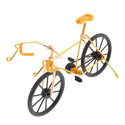 B Blesiya 1:10 Mini Bike Modèle Jouet pour Enfants et Adultes en Métal Jouet Doigt Modèle de Bike Gadgets Cadeau pour Collectionneur - Or