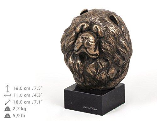 Chow Chow, Hund, Marmor, Statue, Kopf, Limitierte Edition, Art Dog