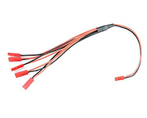 HMF 95951 Mehrfachladekabel, 5er Stecker, passend für U818, U816, 998 V2, WL Toys V959, V969, V979, V989, V999, T641C, F627, RC Ersatzteile