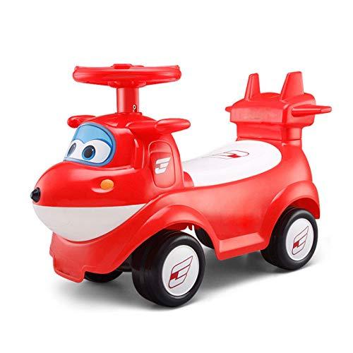 GHH Children Baby Walker 1/2-3 Años De Edad Scooter para Bebés Twist Car 4 Wheel Music,2kgRojo +...
