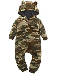 Sisit Camouflage Plus épais à Capuche Barboteuse Outfit pour Kid Bébé  Garçons Filles Vêtements 2d19a2250e0
