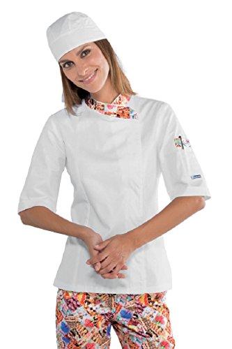 Isacco Isacco Delicious Lady Snaps Jacket - Delicious - XL - 100% Baumwolle - Halbarm Xl Workwear-snap