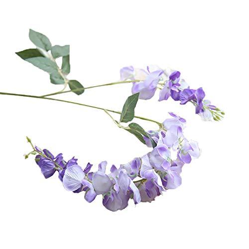 SHINEHUA Kunstblumen Glyzinien Künstliche Pflanze Künstliche Fake Wisteria Blumen Seidenblumen hängende Dekoration Garland Seide Blumen für Party Home Dekoration Hochzeiten