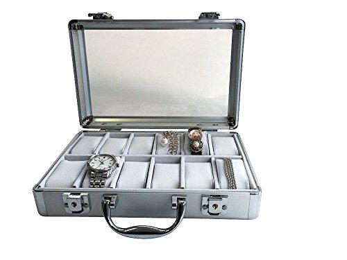 Uhrenkoffer aus Aluminium für 12 Uhren - 4