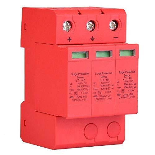 DC-Überspannungsschutz, 3P 3.0KV-Überspannungsschutzgerät Schützen Sie das Stromkabel mit einer optischen Warnanzeige vor Blitzschlag und Überspannung (3p40ka)