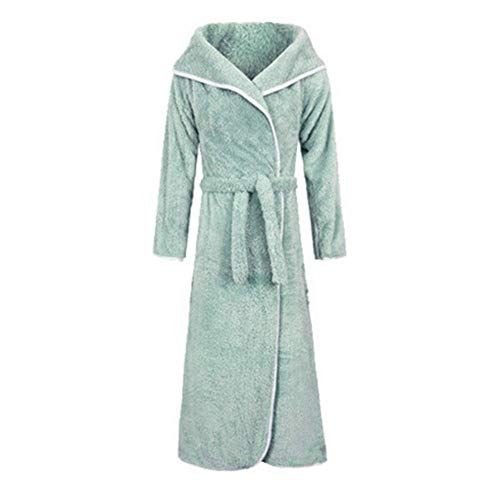DX Bademantel Herbst Und Winter Männer Und Frauen Paar Nachtwäsche 100% Baumwolle Ight Gown Plus Long Morgenmantel Super Soft Wrap, 6 Farben (Farbe: A, Größe: M)