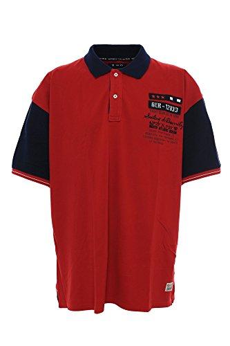 Kitaro Herren Poloshirt Rot