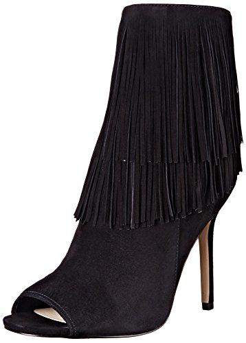Sandalo tronchetto Sam Edelman Arizona in camoscio nero con frange Nero