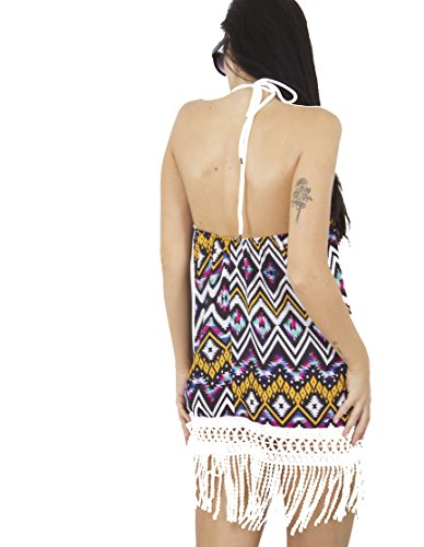 Fashion 1st Damen Neckholderkleid Kleid One size Multi Colour Aztec
