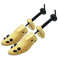 Wooden Shoe Stretcher Adjustable 2-Way Shoe Trees For Men & Women,Set of 2