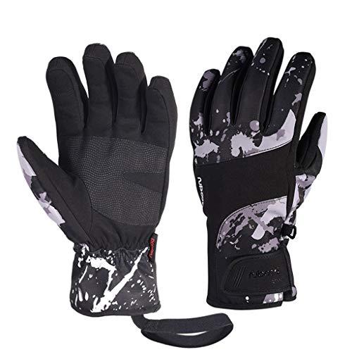 Goquik Skihandschuhe Wasserdichte Fingerhandschuhe Herbst Winter Sport Handschuhe Touch Screen Cold, Schwarz, M