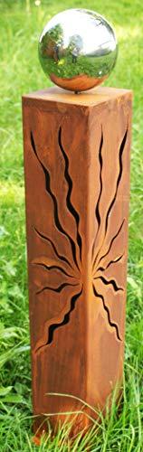 Gartendeko Rost Säule Stehle Heiko 80 cm