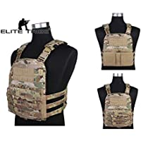 Elite Tribe Chaleco Ligero AVS Molle Tactical Carrier Cordura Caza Chaleco Multicam