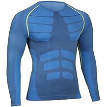 Bwiv camiseta de compresiòn hombre manga larga secado rápido camiseta de running