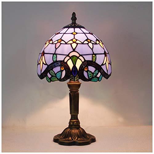 YYF Lampe de table baroque bleu méditerranéen - Bar chambre salon 20cm (8 pouces)